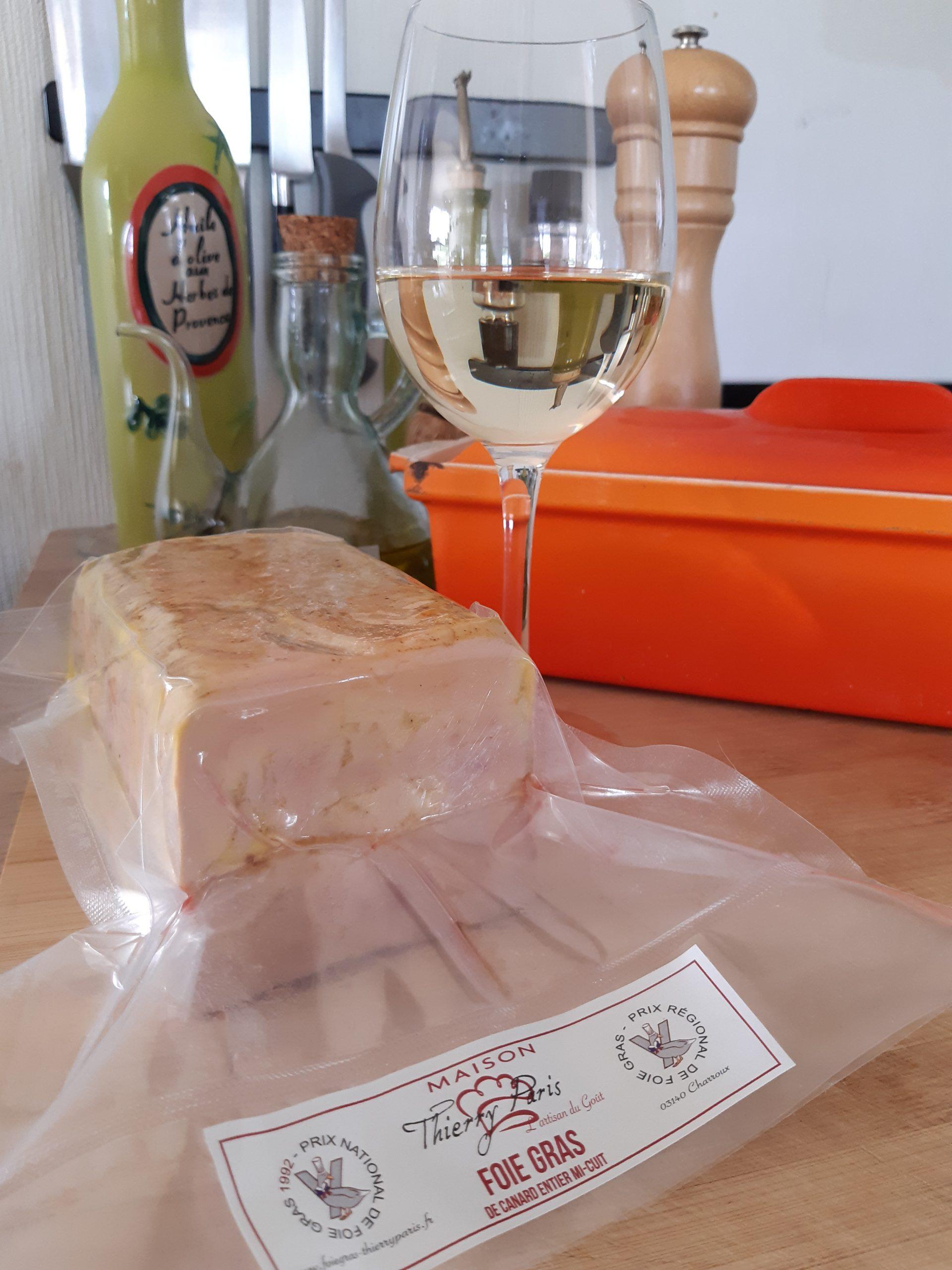 Foie gras mi-cuit sous vide