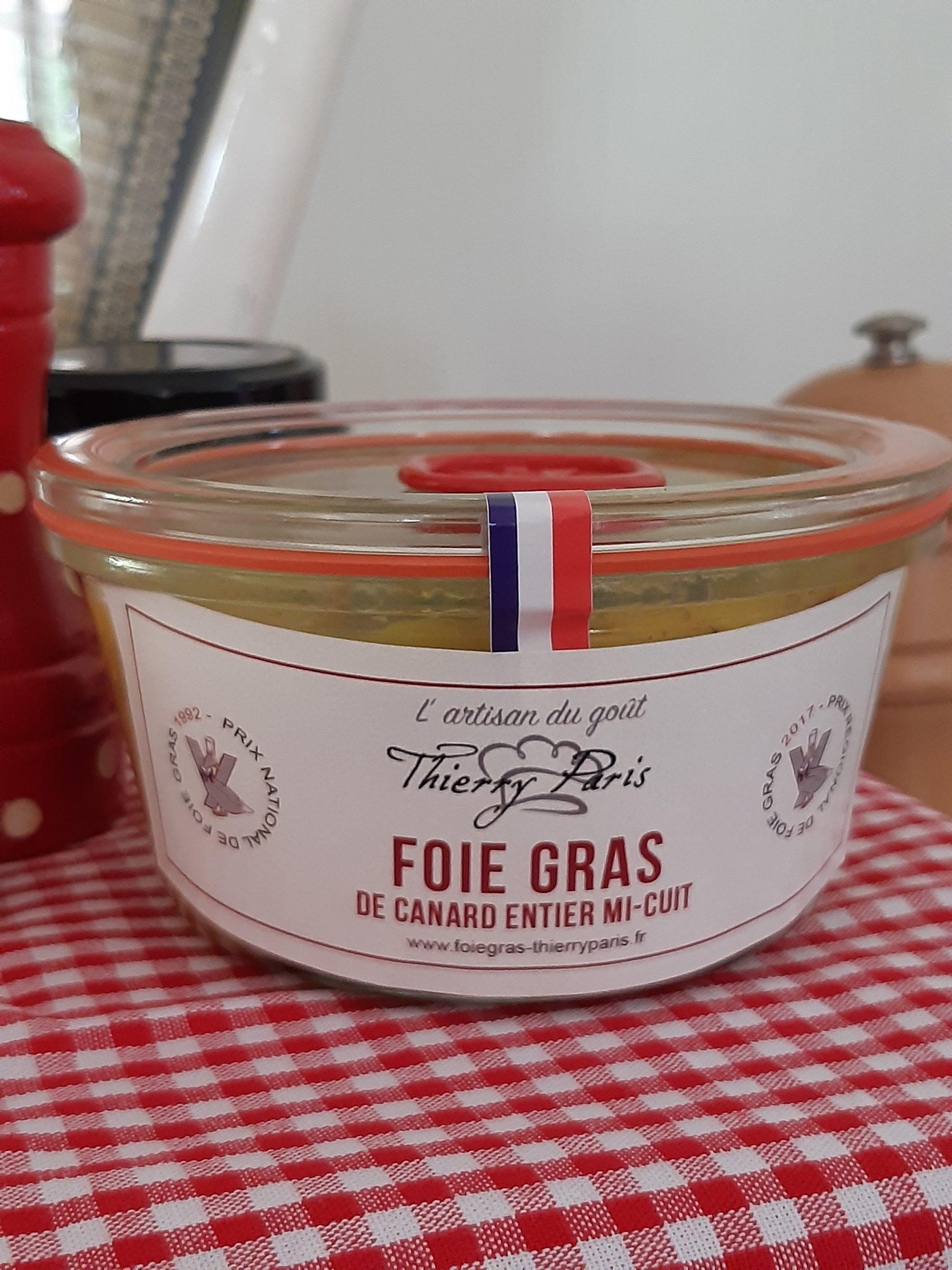 verrine 300 gr foie gras mi-cuit