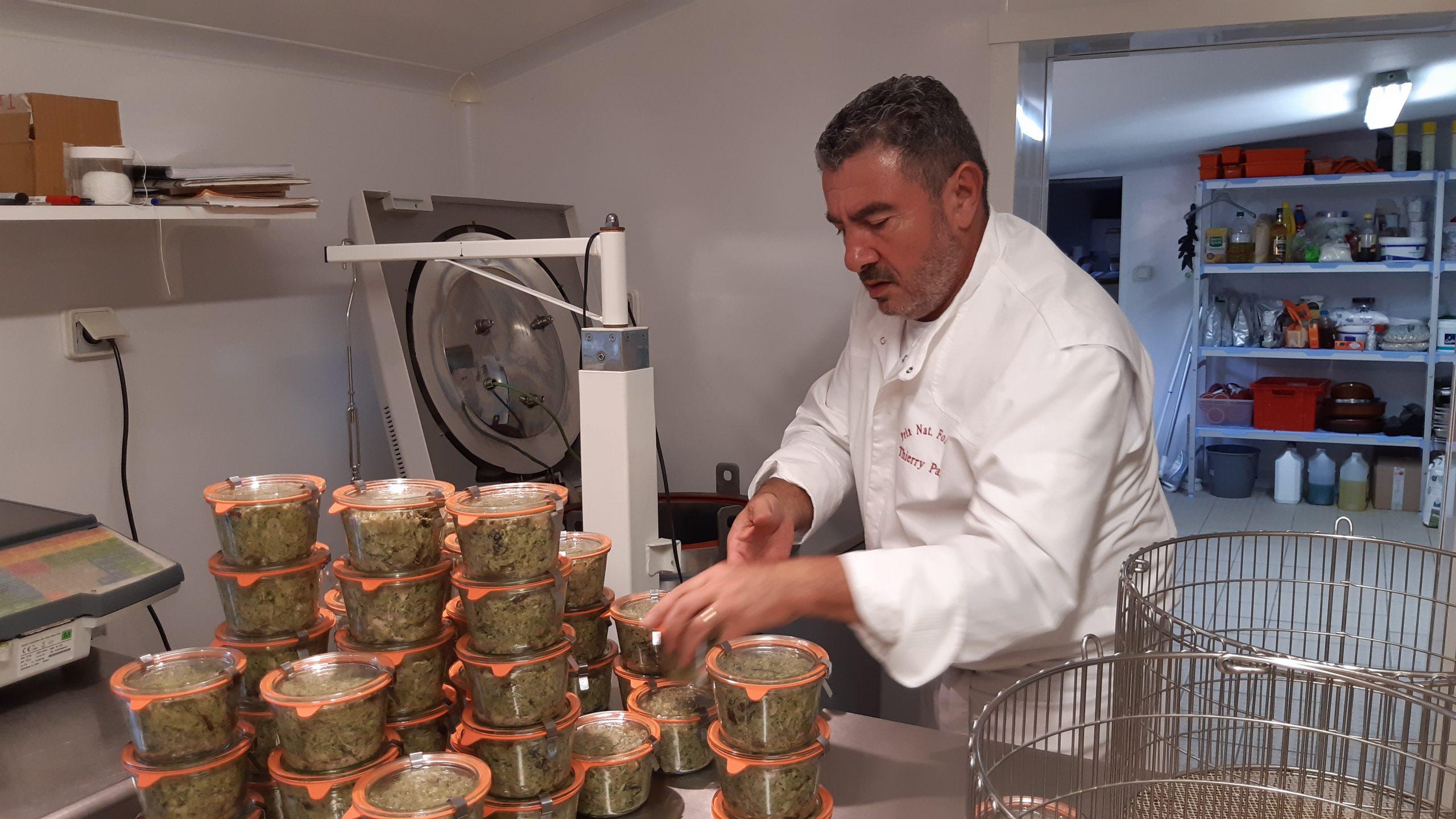 chef thierry paris préparation verrine